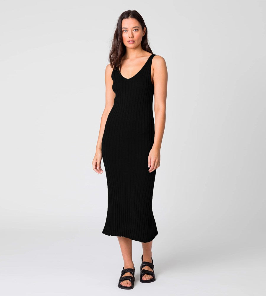 Marlow | Wander Knit Dress | Black