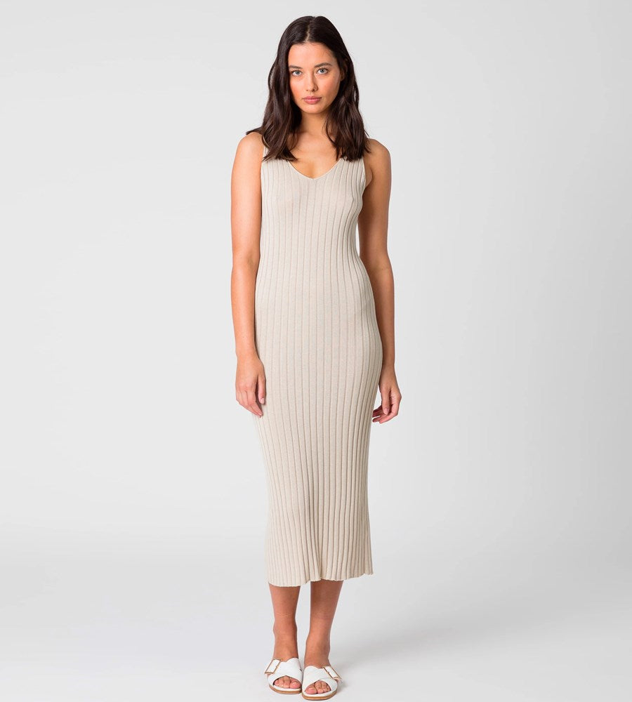 Marlow | Wander Knit Dress | Natural