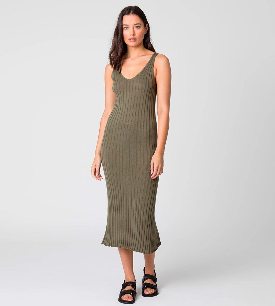 Marlow | Wander Knit Dress | Olive