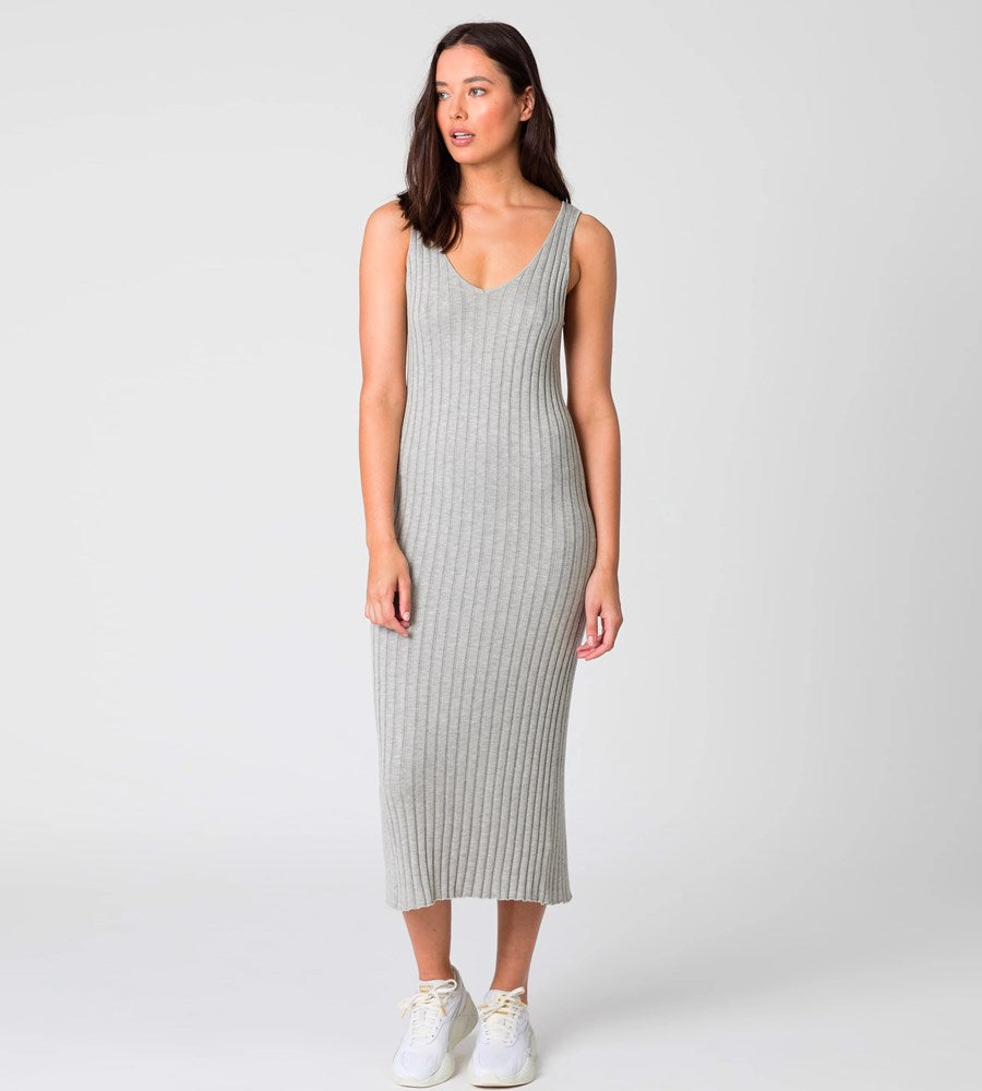 Marlow | Wander Knit Dress | Silver Marle