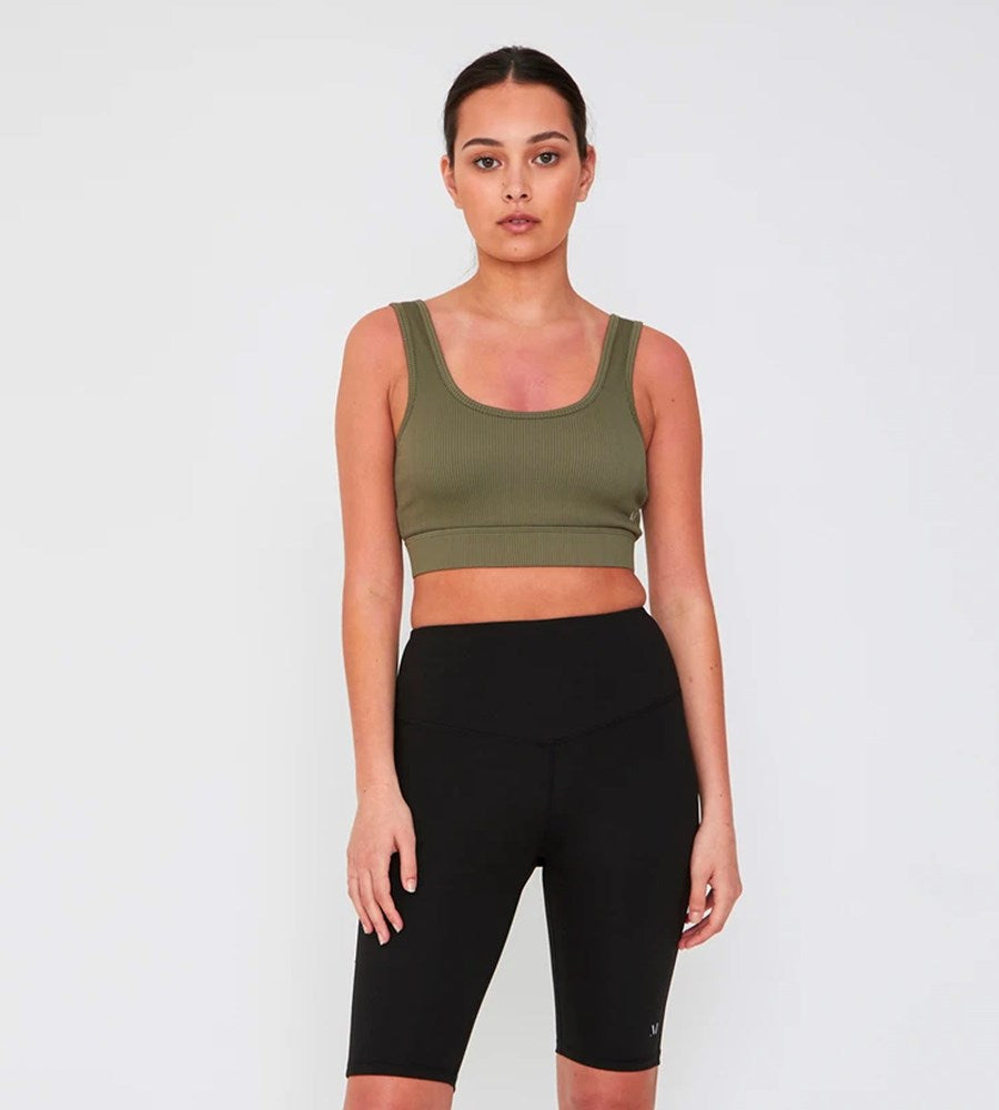 Marlow | Warrior Rib Sports Bra | Olive