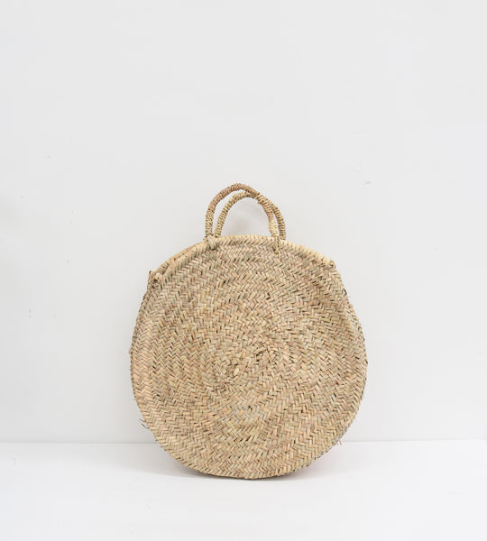 Marrakesh | Round Market Basket with Sisal Handle