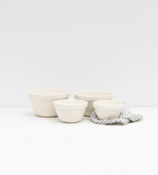 White Ceramic Pudding Basins Mixing Bowls