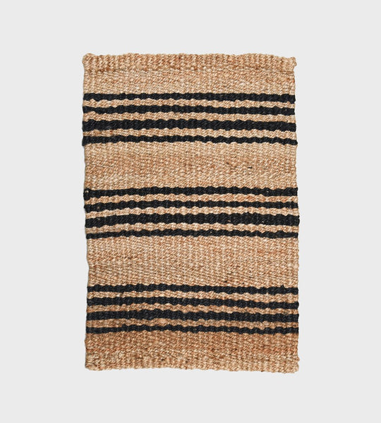 Mat Natural with Charcoal Stripe
