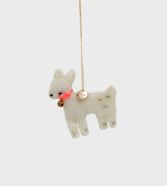 Christmas Decoration | Mini Woodland Felt | White Fawn