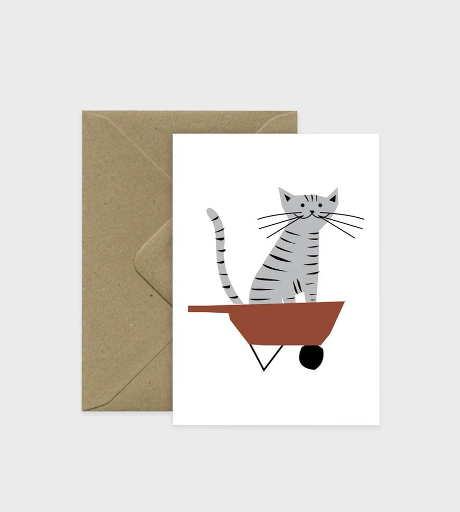 Michoucas Design | Happy Farmer Cat Card