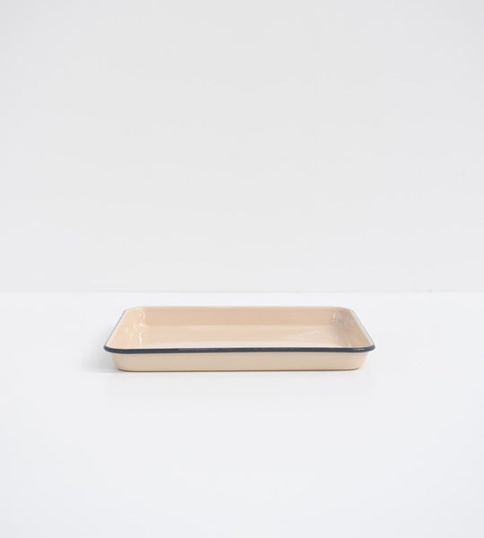 Mocha Enamel | Rectangle Tray | 30cm