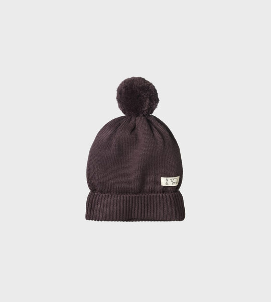 Nature Baby | Alpine Pom Pom Beanie | Chocolate