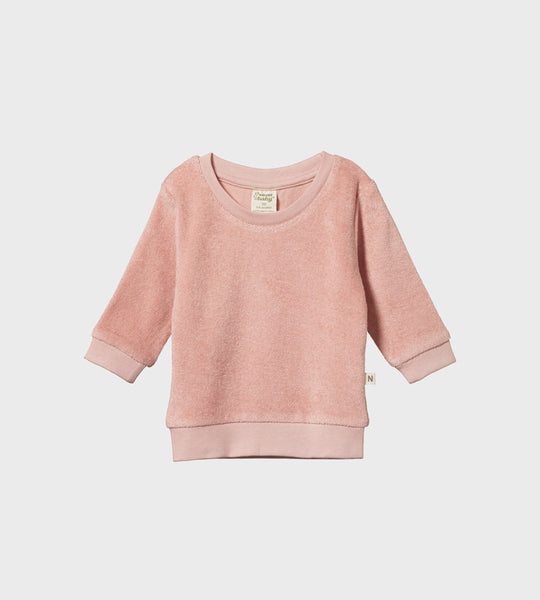 Nature Baby | Audrey Sweater | Rose Bud