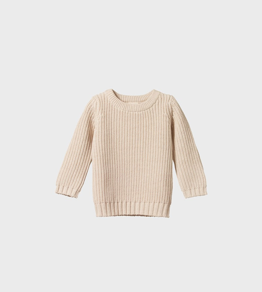 Nature Baby | Billy Jumper | Oatmeal Marl Chunky Knit