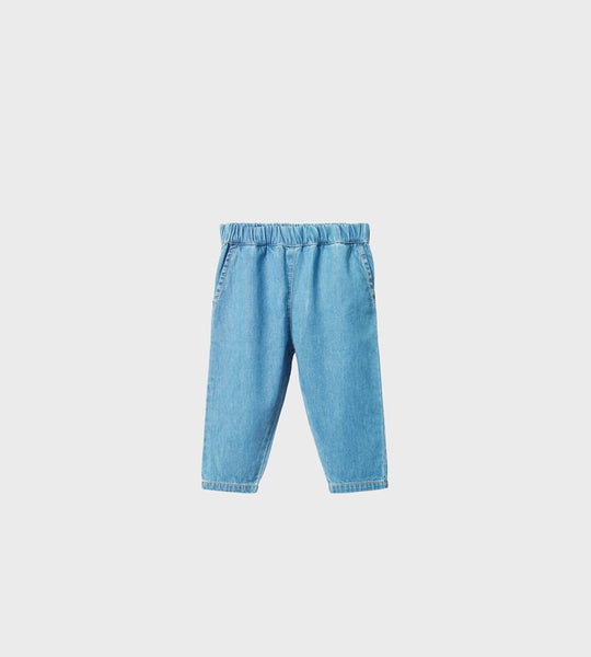 Nature Baby | Chambray Sailor Pants | Sky