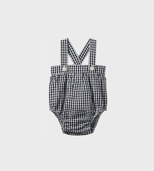Nature Baby | Gingham Cloud Suit | Navy Check