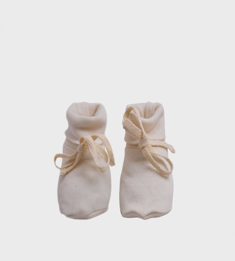 Nature Baby | Merino Booties | Natural