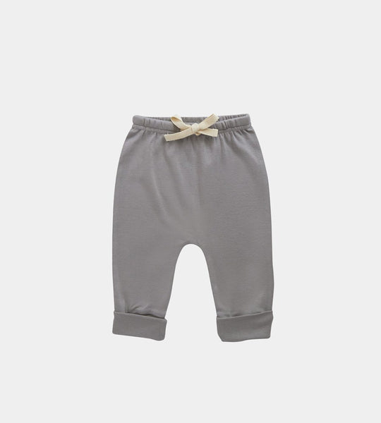 Nature Baby | Cotton Drawstring Pants | Grey Marle