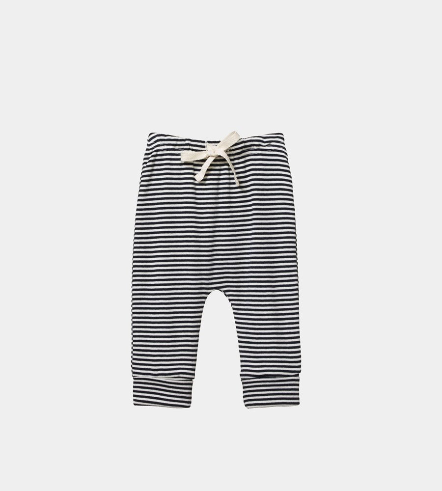Nature Baby | Cotton Drawstring Pants | Navy Stripe