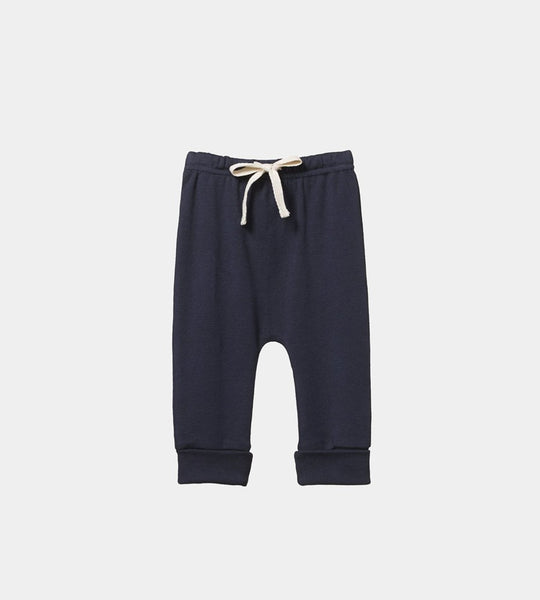 Nature Baby | Cotton Drawstring Pants | Navy