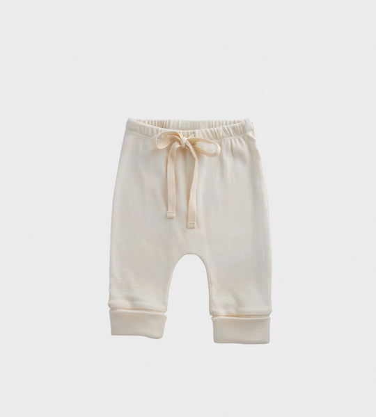 Nature Baby | Pointelle Drawstring Pants | Natural