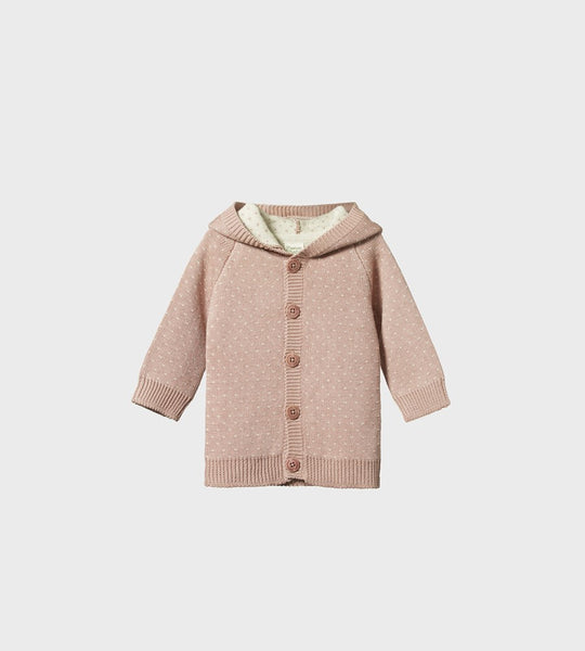 Nature Baby | Cotton Knit Oak Hoodie | Tulip Winter Knit