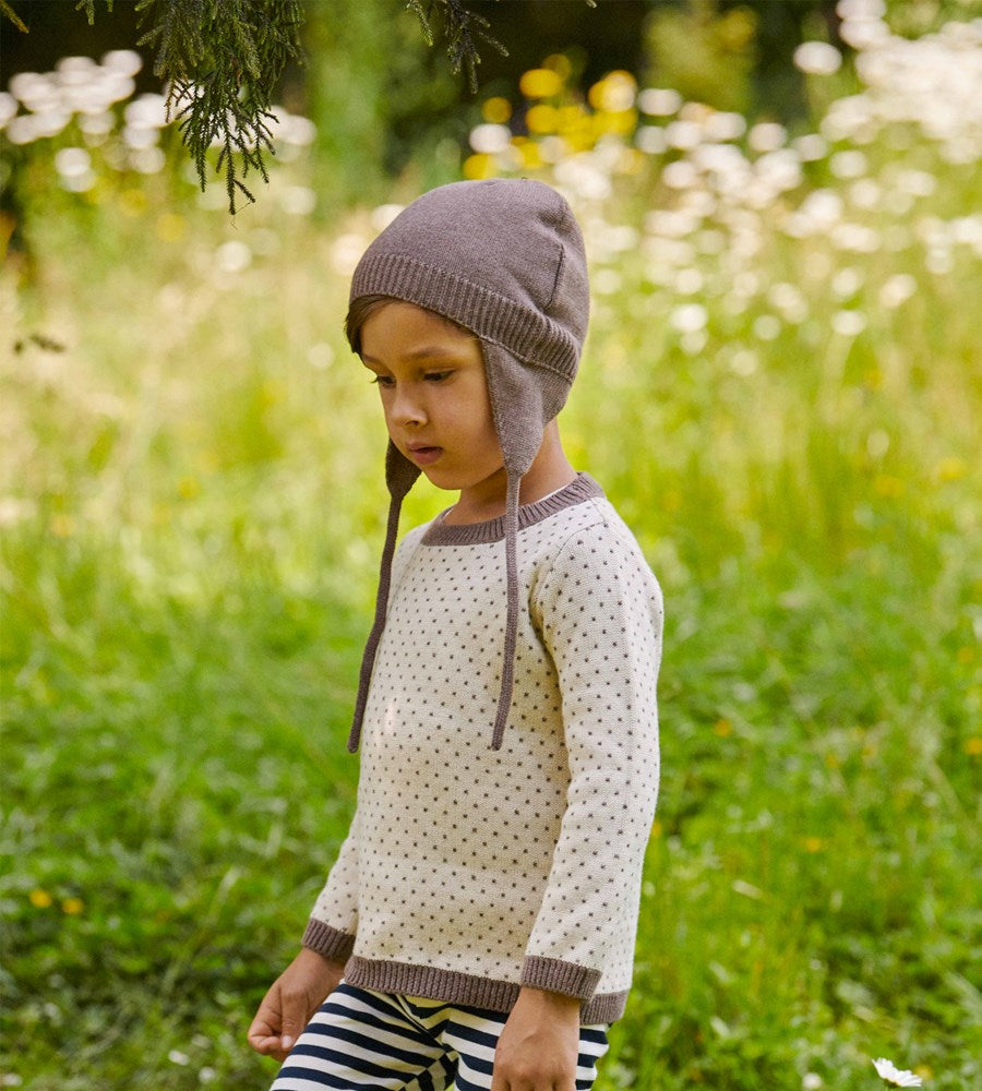 Nature Baby | Cotton Knit Pieter Hat | Truffle Marl