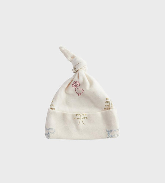 Nature Baby | Cotton Knotted Beanie Hat | Nature Baby Print