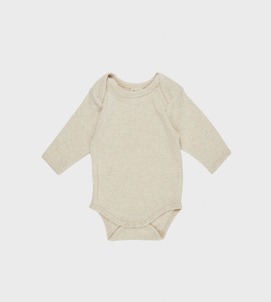Nature Baby | Long Sleeve Bodysuit | Oatmeal Marle
