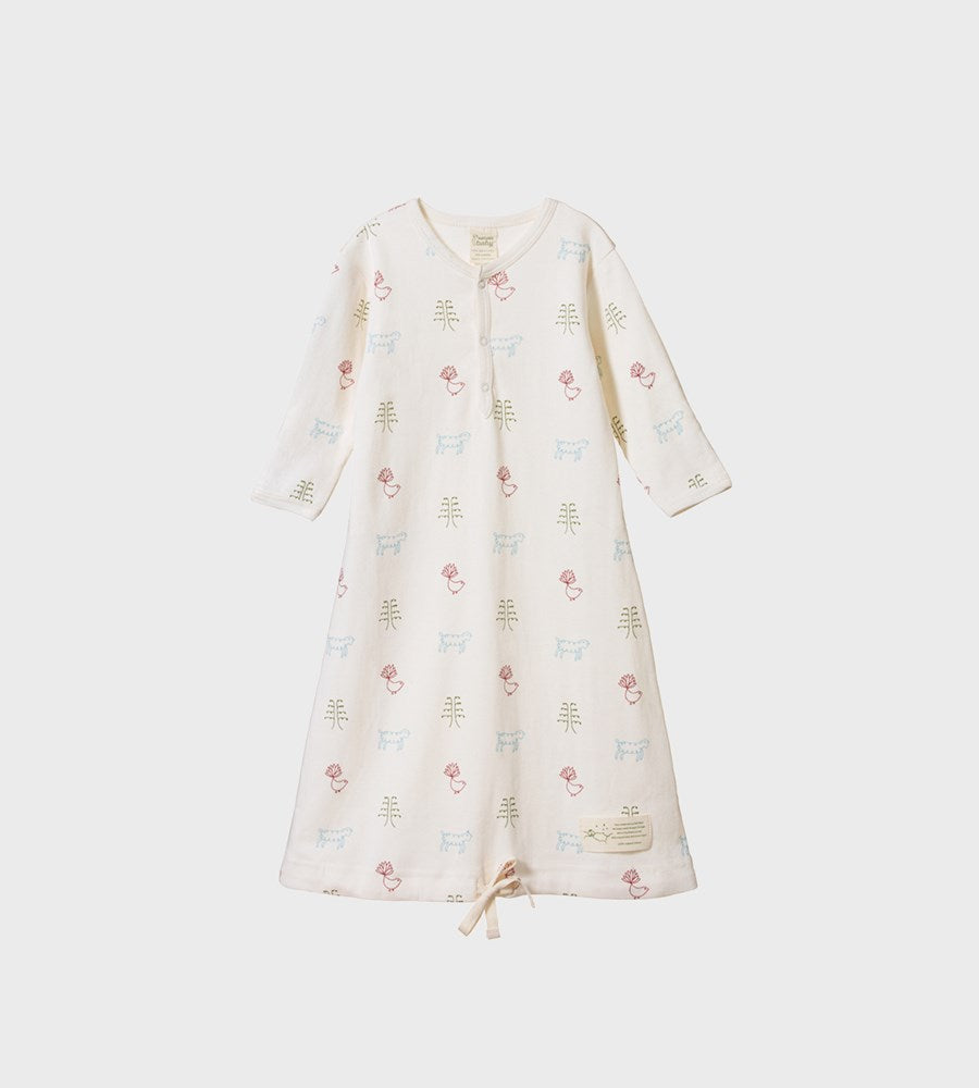 Nature Baby | Cotton Sleeping Gown | Nature Baby Print