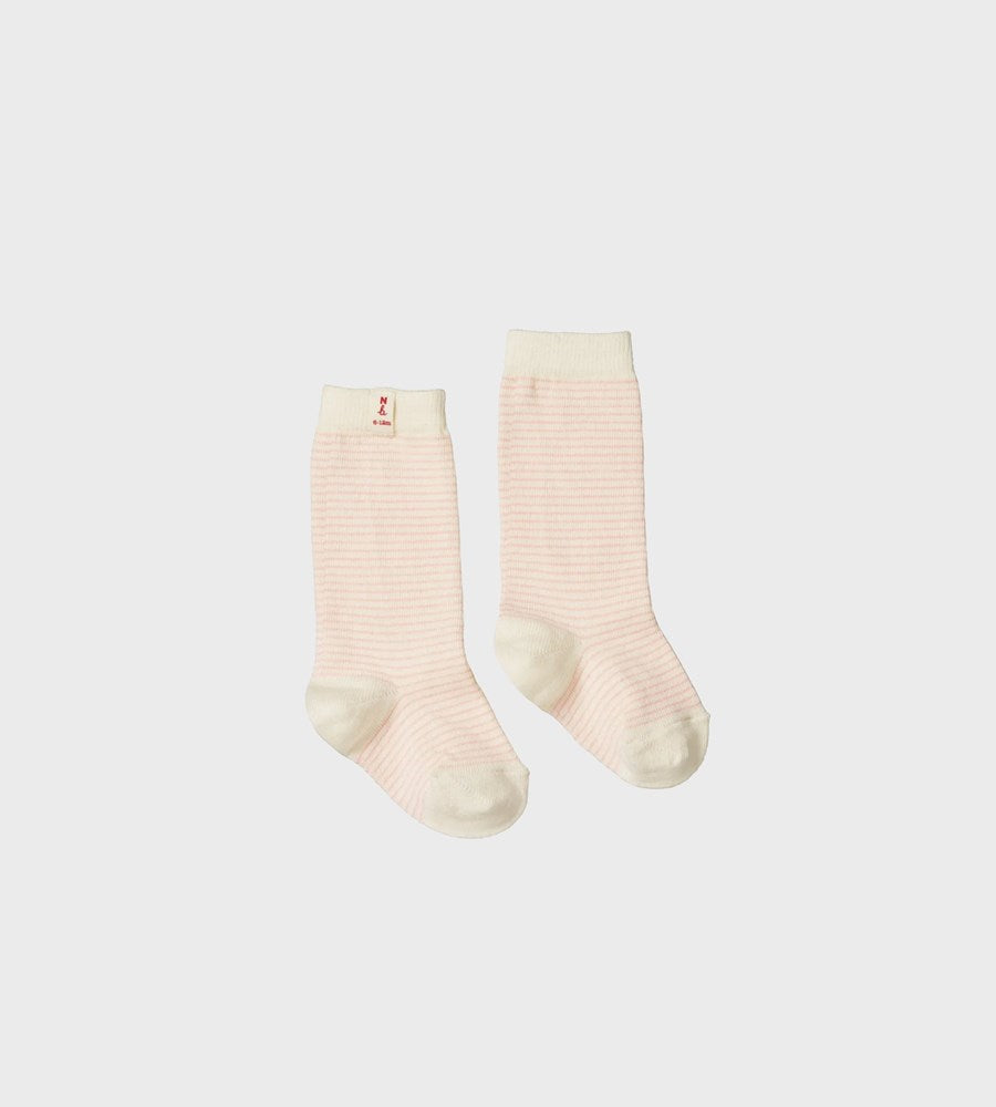 Nature Baby | Cotton Socks | Pink Stripe