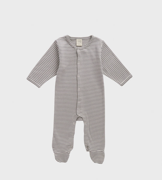 Nature Baby | Cotton Stretch & Grow One Piece | Grey Stripe