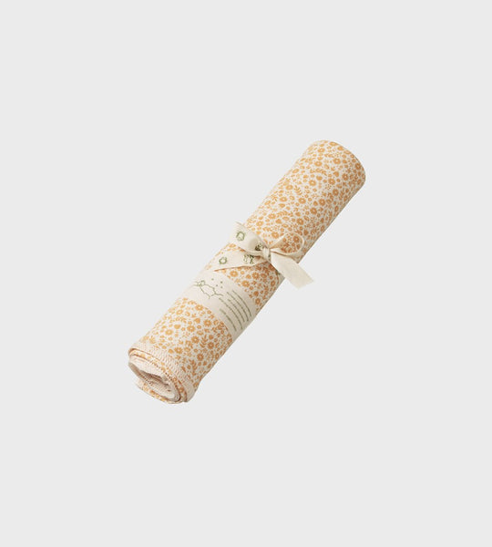 Nature Baby | Cotton Wrap | June's Garden Straw Print