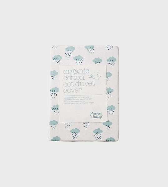 Nature Baby | Duvet Cover | Rain Cloud Print