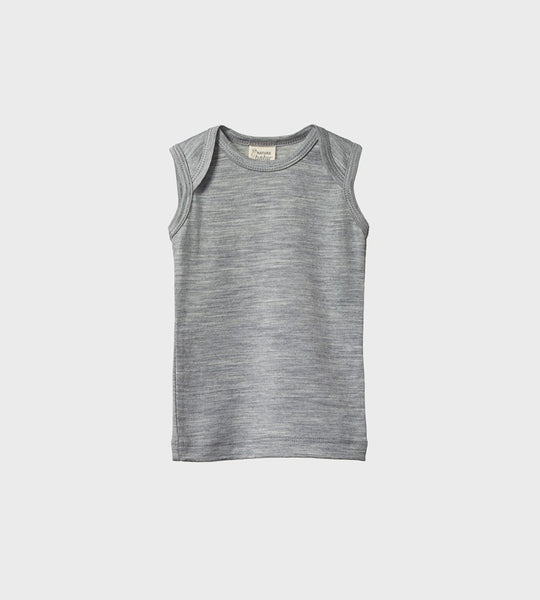 Nature Baby | Merino Essential Singlet | Grey Marl