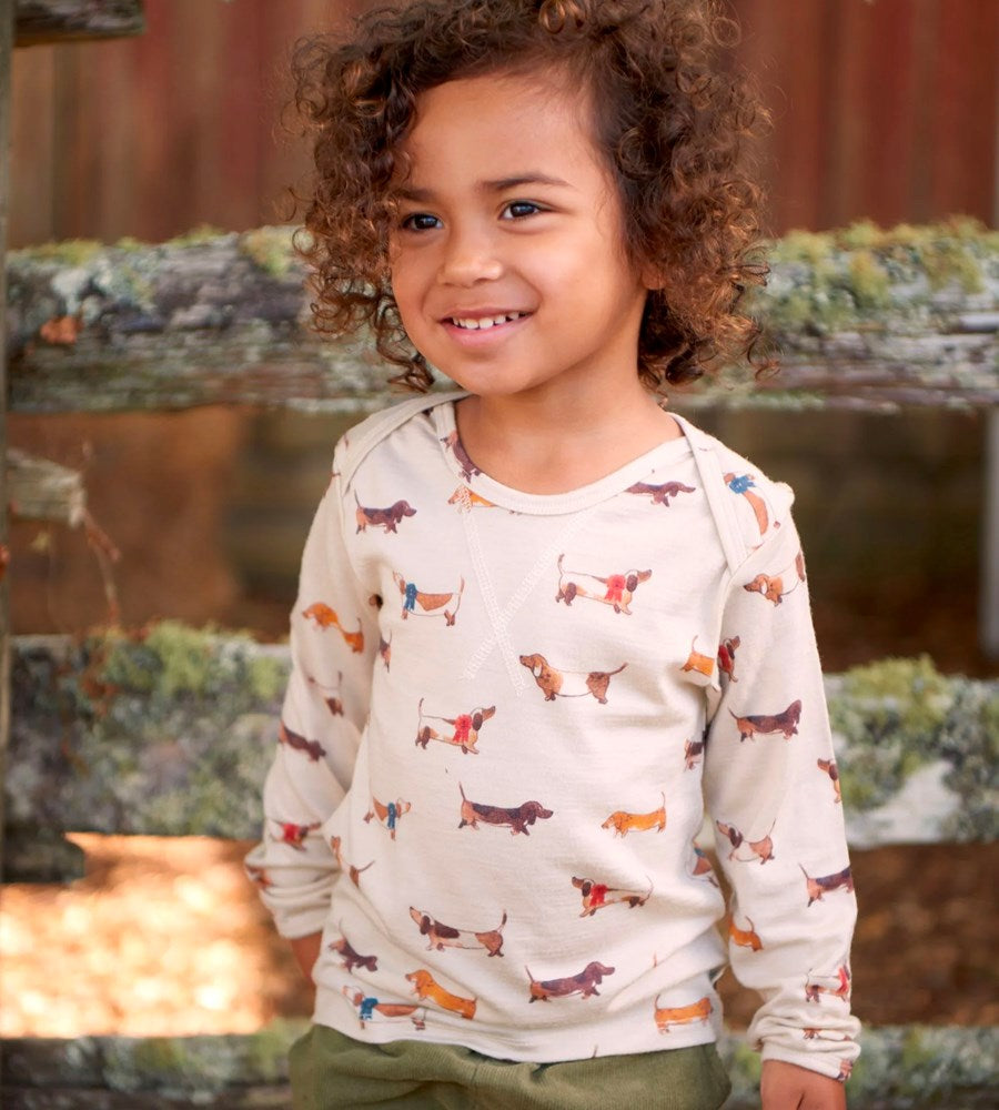 Nature Baby | Essential Tee | Pet Parade Oatmeal Print