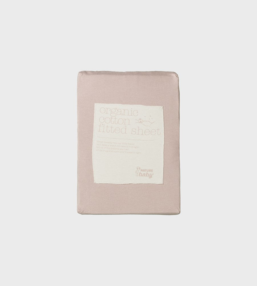 Nature Baby | Fitted Sheet | Rose Bud