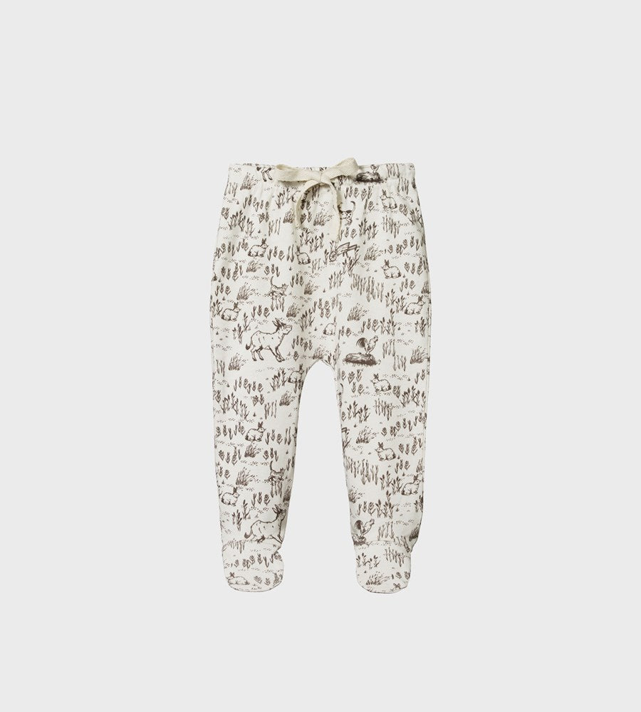Nature Baby | Footed Romper | Barnyard Print