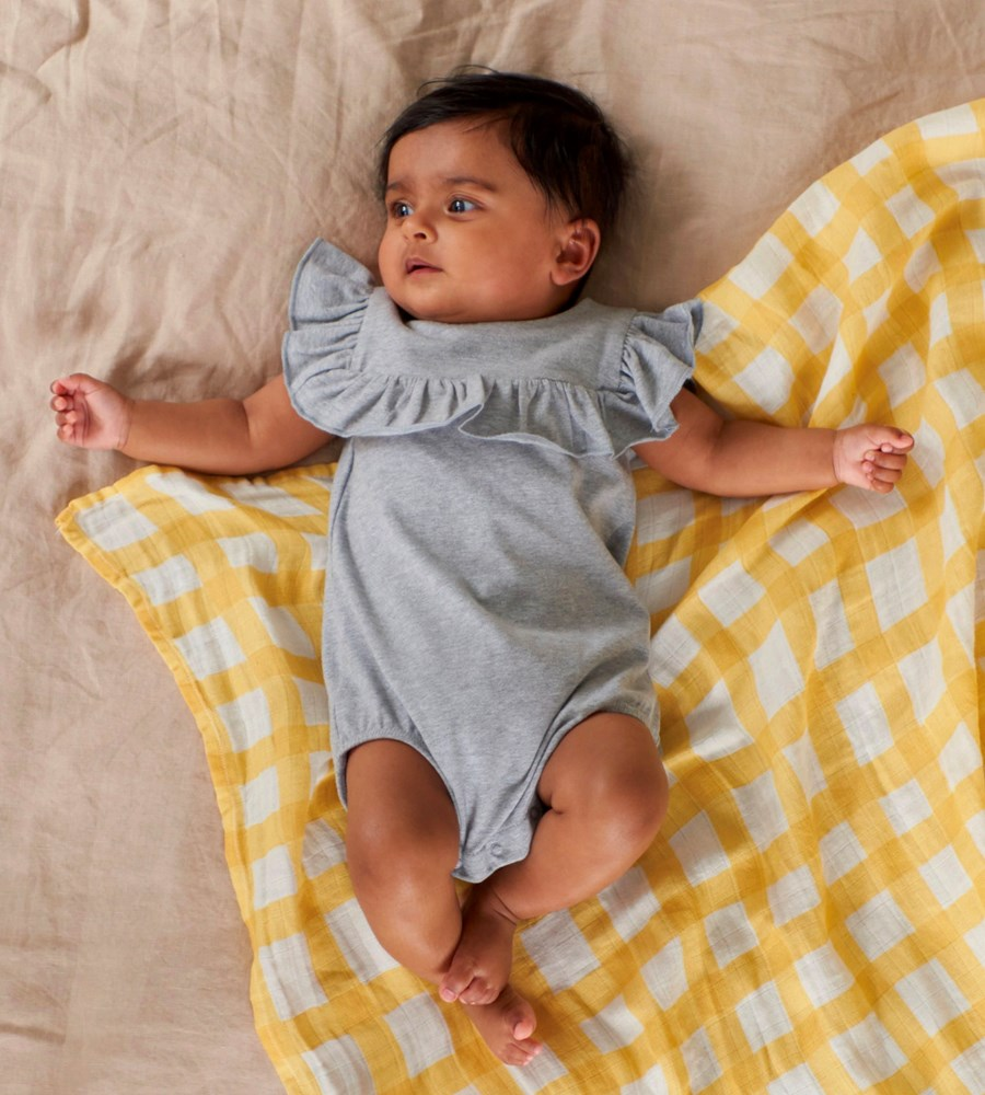 Nature Baby | Frill Suit | Grey Marle