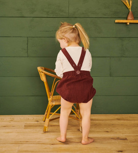 Nature Baby | Georgie Cord Romper | Berry