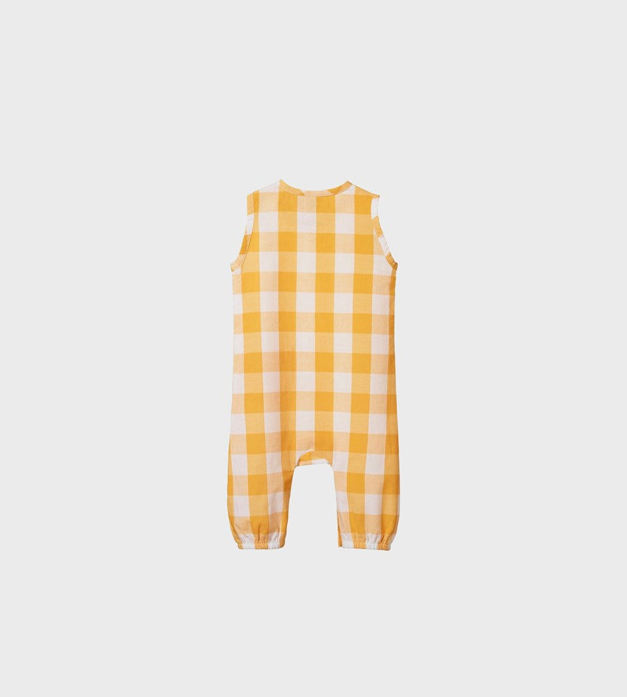 Nature Baby | Gingham Cedar Suit | Honey Check