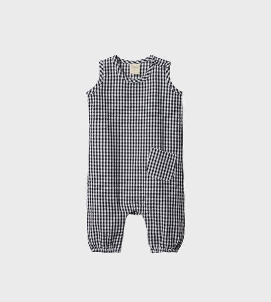 Nature Baby | Gingham Cedar Suit | Navy Check
