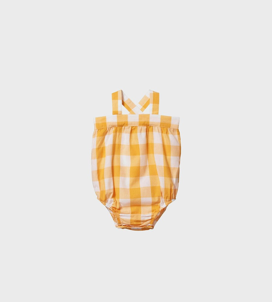 Nature Baby | Gingham Cloud Suit | Honey Check