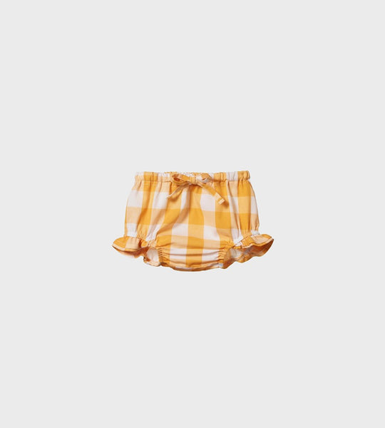 Nature Baby | Gingham Petal Bloomers | Honey Check