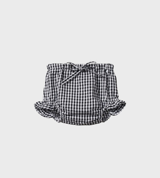 Nature Baby | Gingham Petal Bloomers | Navy Check