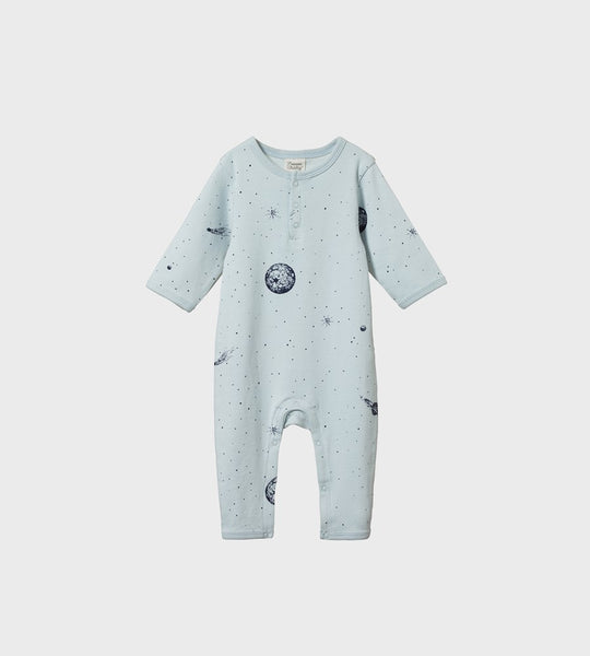 Nature Baby | Henley Pyjama Suit | Galaxy Print