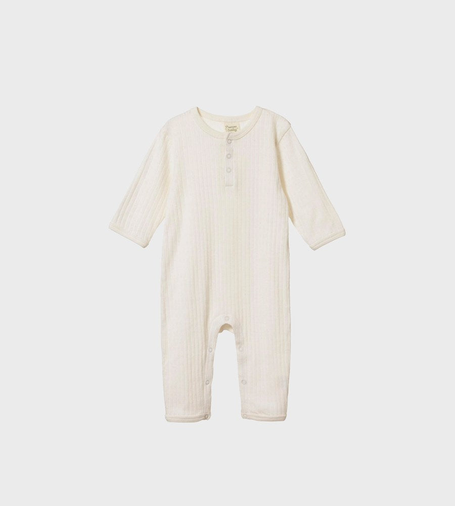 Nature Baby | Henley Pyjamas Pointelle | Natural
