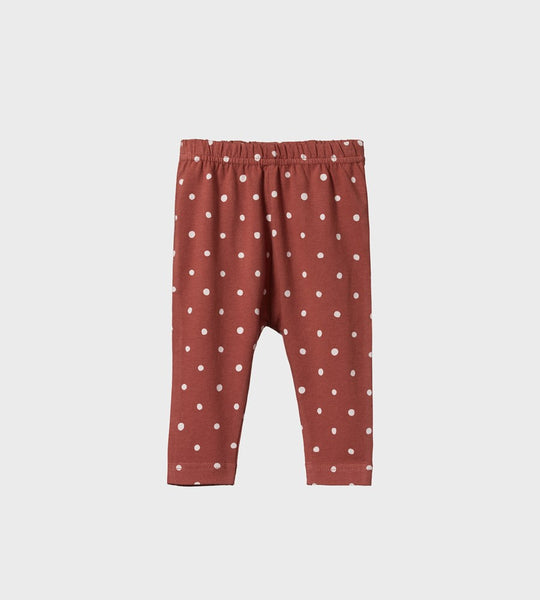 Nature Baby | Baby Leggings | Dottie Terracotta Print