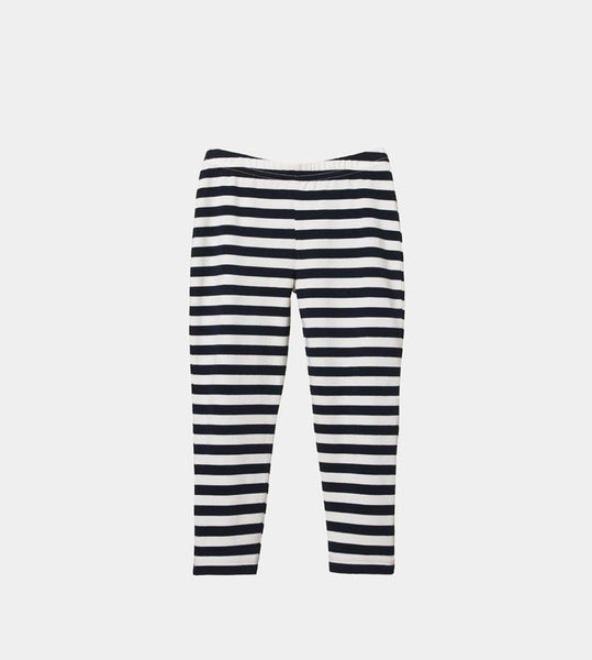 Nature Baby | Leggings | Navy Sea Stripe