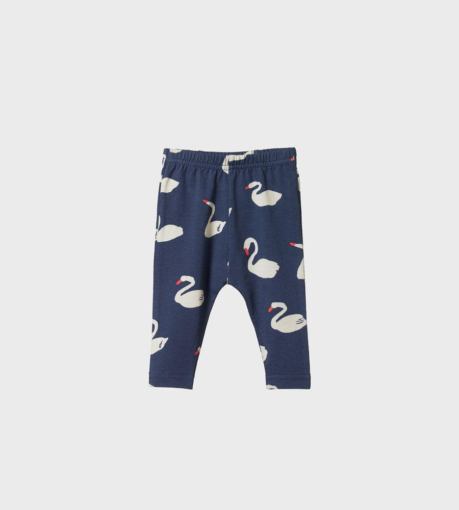 Nature Baby | Leggings | Swan Night Print