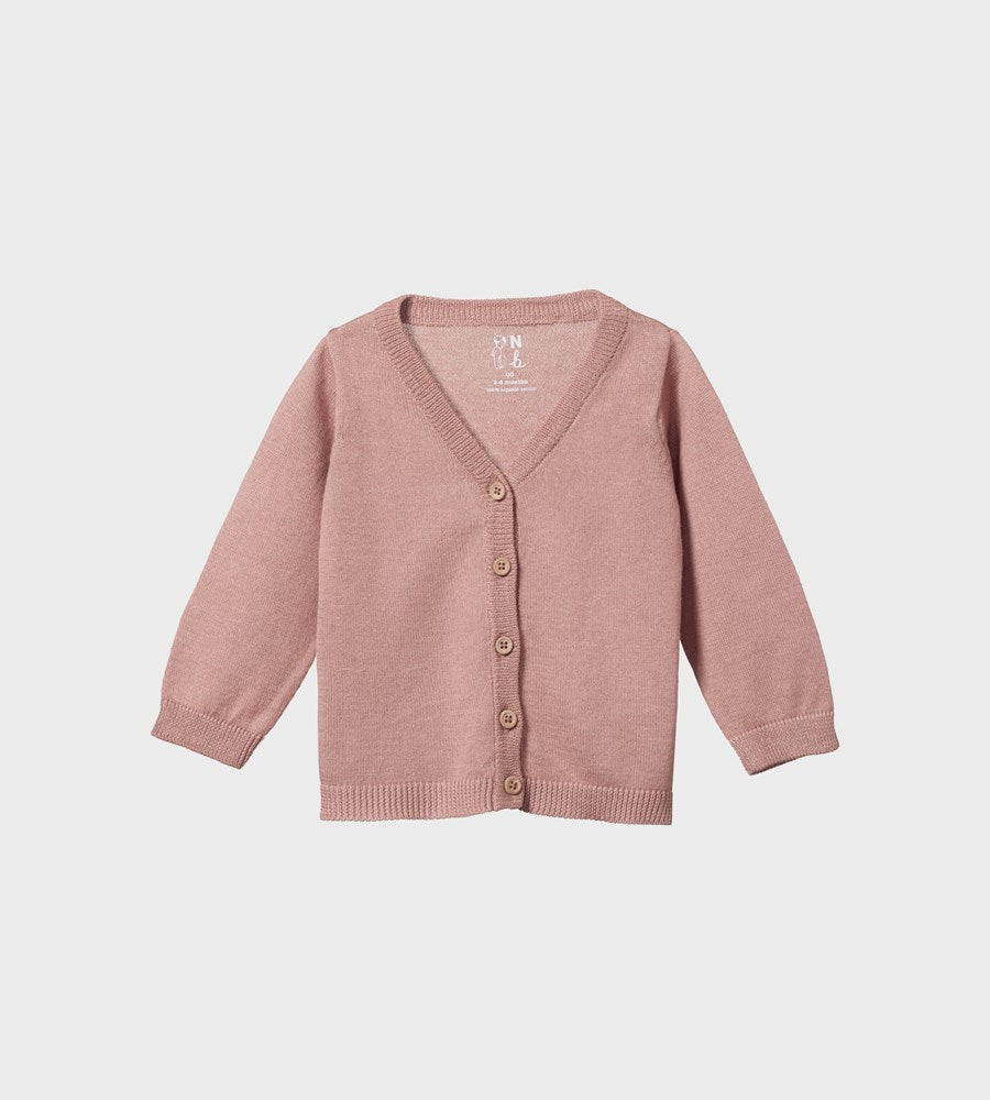 Nature Baby | Light Cotton Knit Cardigan | Camellia