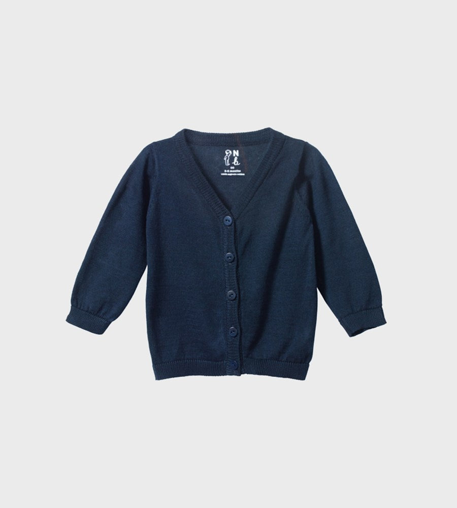 Nature Baby | Light Cotton Knit Cardigan | Navy