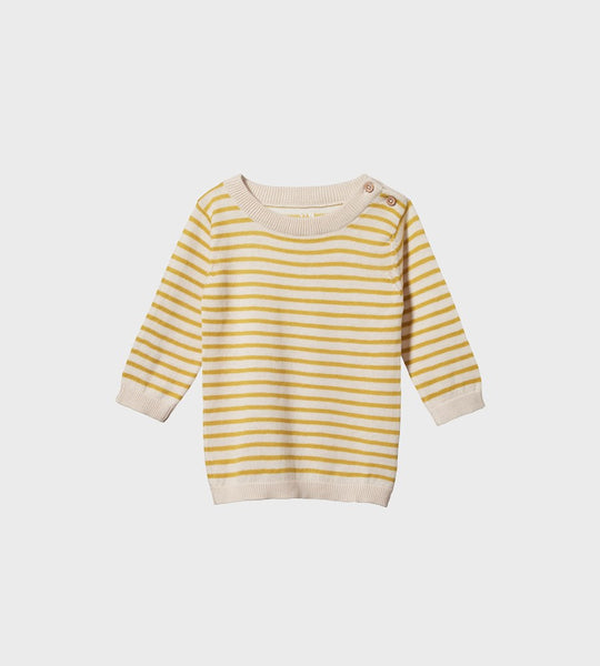 Nature Baby | Light Cotton Knit Jumper | Sunny Sailor Stripe