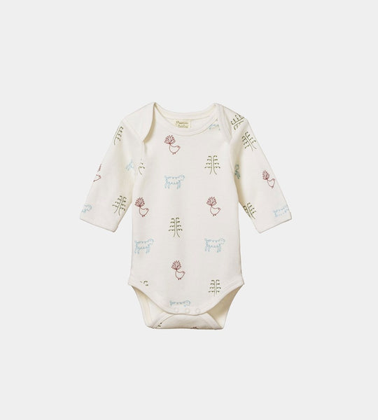 Nature Baby | Long Sleeve Bodysuit | Nature Baby Print